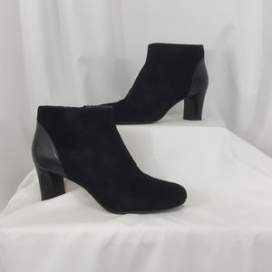 Cole Haan black suede ankle boots
